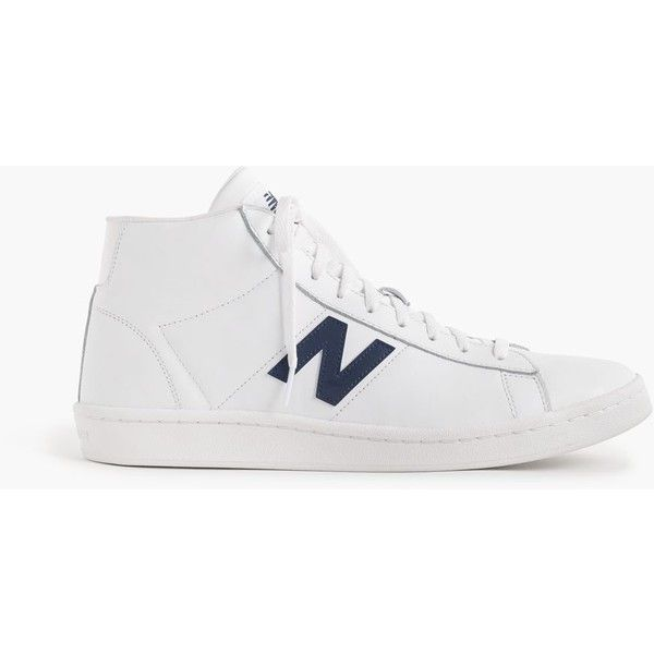 New Balance® for J.Crew 891 leather high-top sneakers ($95) ❤ liked on Polyvore featuring shoes, sneakers, hi tops, retro hi tops, j crew shoes, leather high top sneakers and j crew sneakers