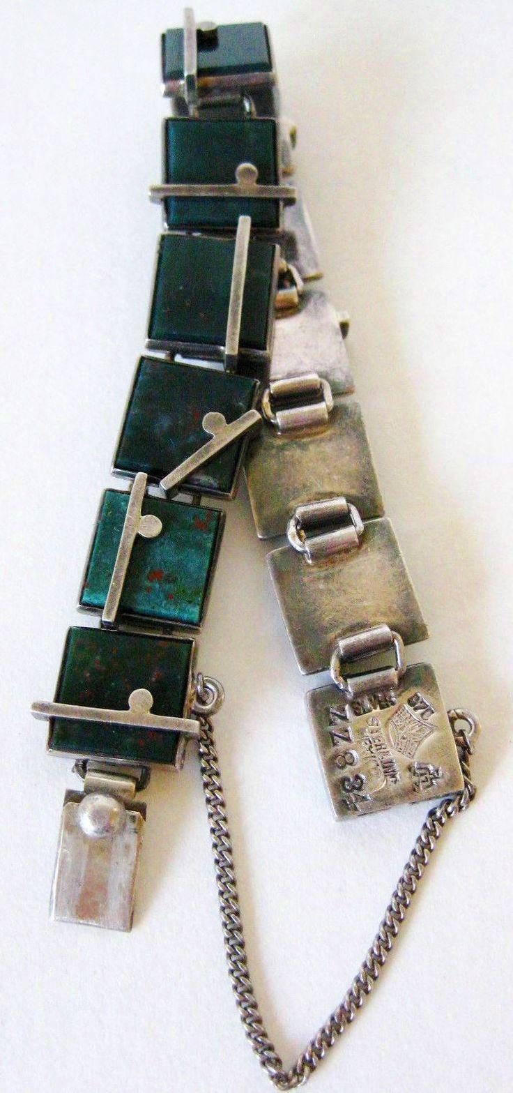 Sterling Silver Modernist Antonio Pineda Taxco Bracelet