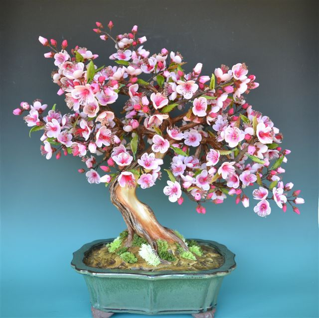 FREE TUTORIAL: polymer clay cherry blossom tree (needs translating). Cómo realizar un Bonsái en Porcelana Fría? | Salahi