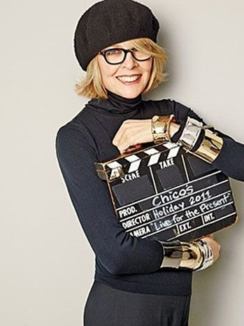 finding out Diane Keaton struggled with crippling bulimia - and overcame it - made me even more inspired by her.  she is the original quirky girl, but not cutesy like zooey.  she's real.