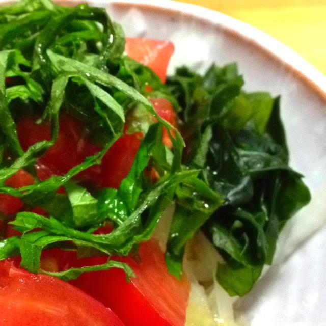 シソトマトサラダ