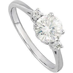 Sparkling Moissanite Engagement Ring