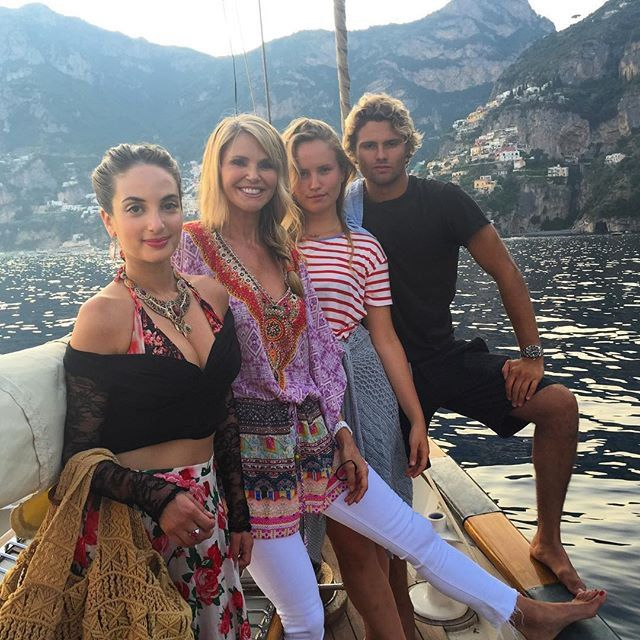 Pin for Later: Celebrity Summer Vacations That Are Sure to Make You Jealous Christie Brinkley The model and her three children lived it up on the Amalfi Coast in July.