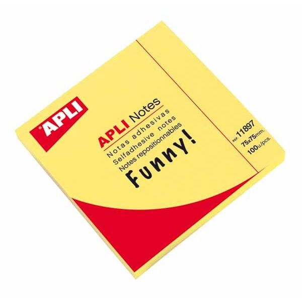 Comprar bloc 100 hojas notas amarillo brillante 11897  #oficina #tienda #notas #indices #adhesivas #colores #rollo #bloc #taco
