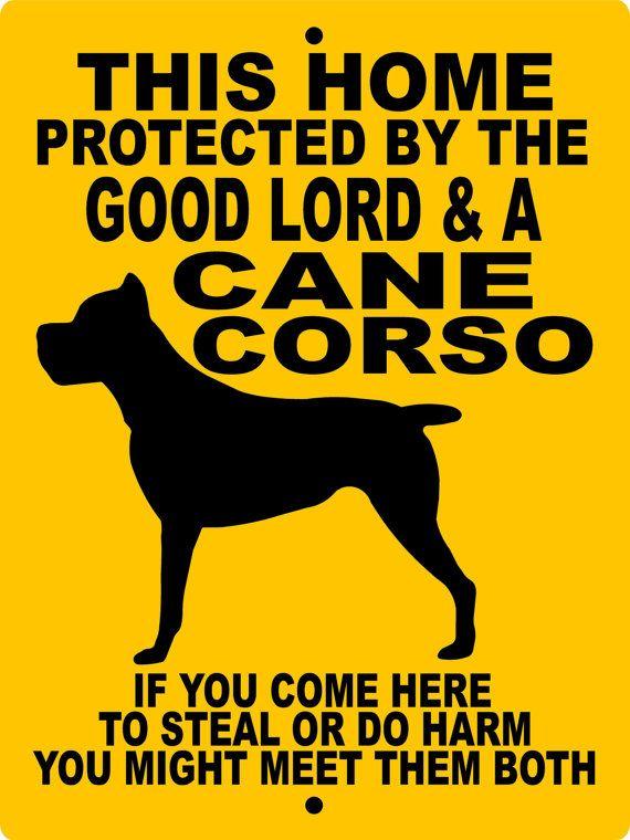 CANE CORSO Dog Sign 9x12 ALUMINUM by animalzrule on Etsy