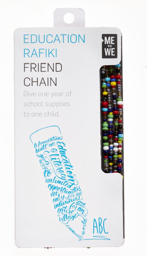 ABC Education Rafiki friend chain, $10, Me to We.