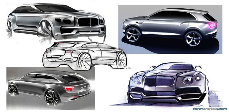 Early sketches of the Bentley Bentayga