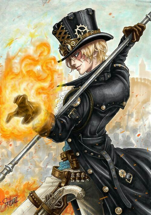 He reminds me of the Mad Hatter because of the hat, and Zuko because of the scar. Great art!