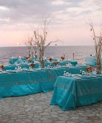 The Wedding Decorator: Turquoise Beach Wedding