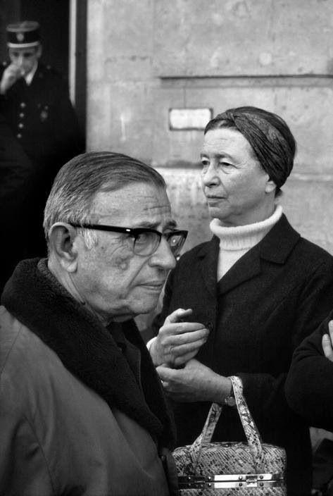 Jean-Paul Sartre et Simone de Beauvoir , 1970