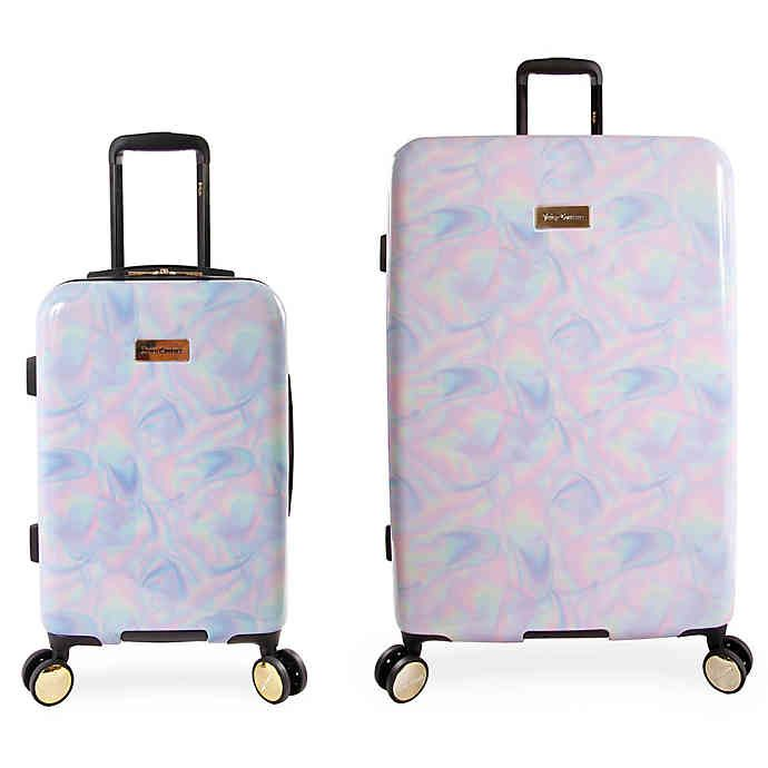 Juicy Couture Belinda Hardside Spinner Luggage Collection Bed