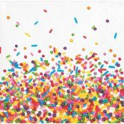 Confetti Sprinkles Beverage Napkins, 16-Pack  $3.50 each at Walmart