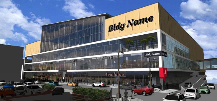 This is a rendering of what the old Macy's building in downtown St. Paul might look like when it is converted into a retail and office hub. A Minnesota Wild practice facility with a skating rink is set to be built on the roof. (St. Paul Port Authority)