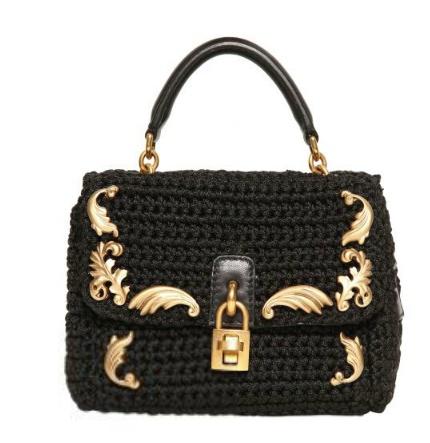 Dolce  Gabana Mini Crochet Shoulder Bag |Pinned from PinTo for iPad| ( VIP Fashion Australia www.vipfashionaustralia.com - international clothes shop )