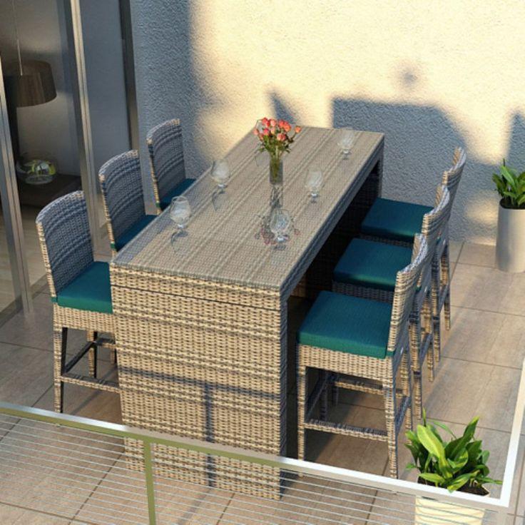 Die besten 25+ Outdoor bar sets Ideen auf Pinterest Terrassen - moderne dachterrasse unterhaltungsmoglichkeiten