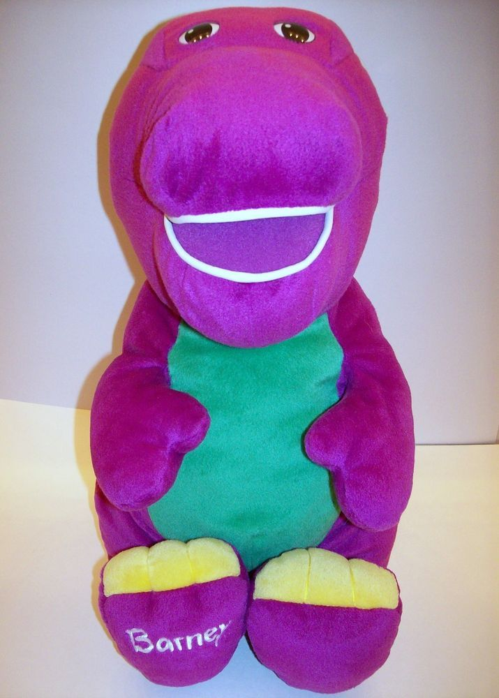 2001 Fisher Jumbo Talking Barney Plush Toy 94790 Huge 24