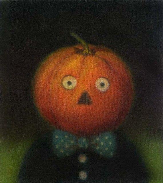 Pumpkin Man Halloween Portrait 1 http://www.etsy.com/listing/58454157/pumpkin-man-halloween-portrait-1