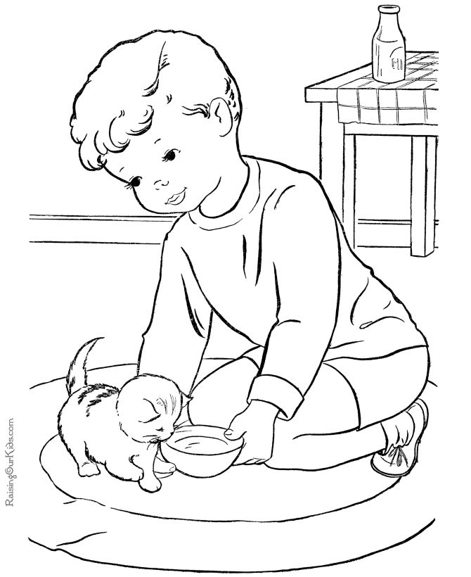 these free printable kitten coloring pages to color