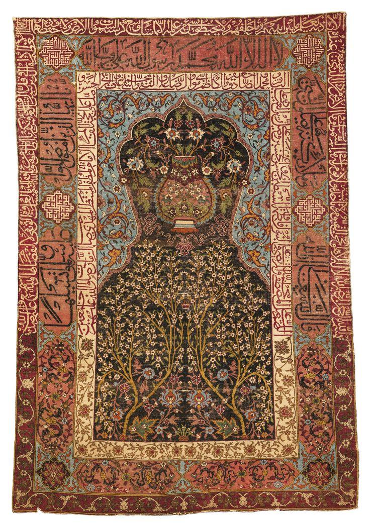 Lot 93 Sotheby 39 S Rug Sale Safavid Prayer Rug Kashan Or