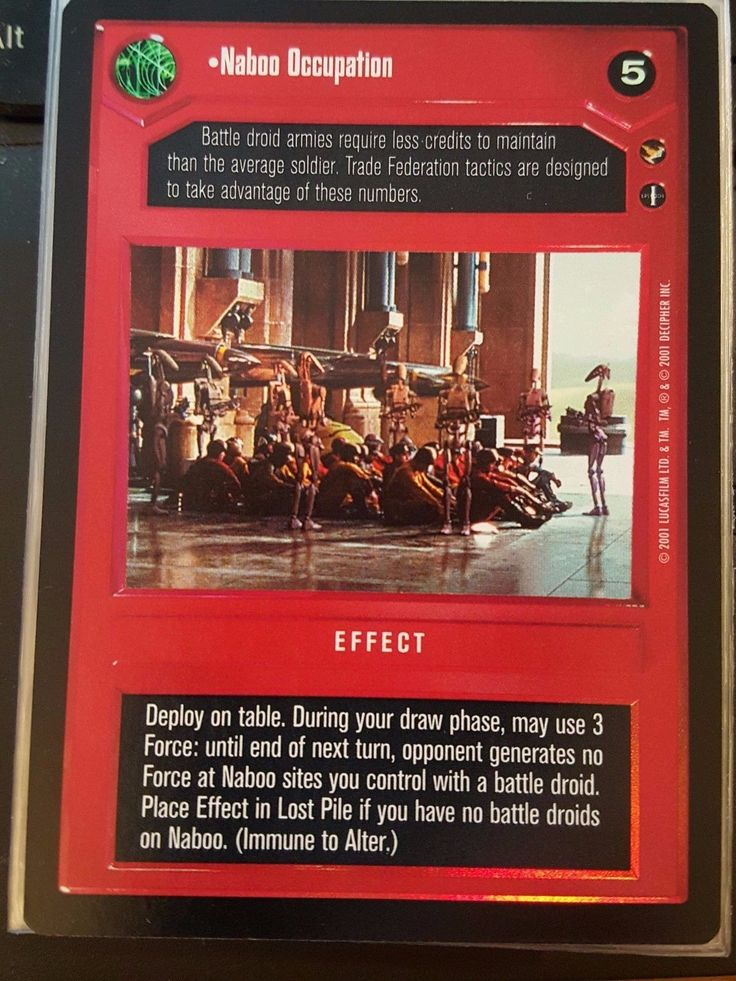 Star Wars CCG Reflections III Naboo Occupation FOIL NM-MT SWCCG