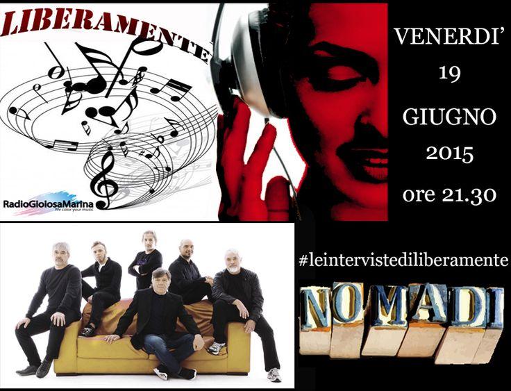 Venerdì 19 giugno 2015 ore 21.30 - Intervista a Beppe Carletti per i Nomadi durante #LiberaMente. Solo su #RadioGioiosaMarina! #staytuned #èsemprebello #lifeison #rgmnews #rgmboom