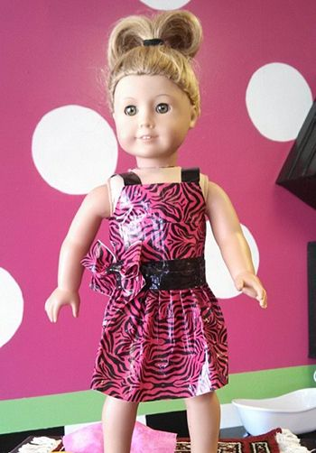 American Girl Doll Dress from Duct Tape