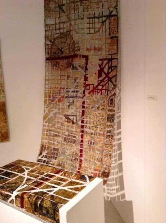 Eszter Bornemisza installation at Festival of Quilts