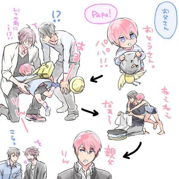 Art from hemu_HR ... Free! - Iwatobi Swim Club, haruka nanase, haru nanase, haru, nanase, haruka, free!, iwatobi, rinharu, sakura, rin matsuoka, rin, matsuoka