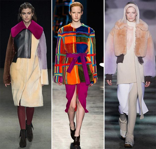 Fall/ Winter 2014-2015 Fashion Trends: Colorful Fur  #fashiontrends #trends