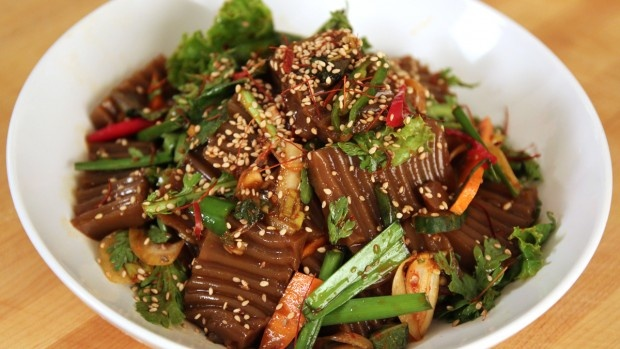 """This is probably the most authentic website I have found for Korean recipes. Pick a few from the """"side dish"""" menu and serve with steamed rice - really healthy and really yummy."""