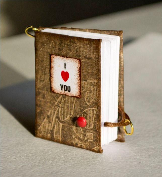 Miniature Valentine's notebooks....Unique DIY Gifts for Boyfriend....#gift #valentine #holiday #celebration #romantic #handmade