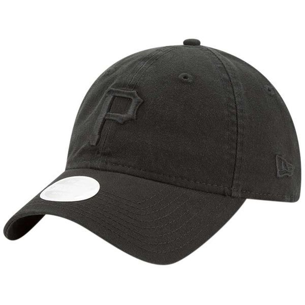 Women s Pittsburgh Pirates New Era Black Core Classic Tonal Team 9TWENTY  Adjustable Hat 466d8615fc7f