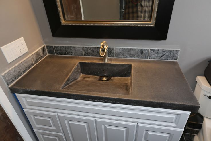 Concrete Vanity Top With Molded In Sink By Homeprosplus On