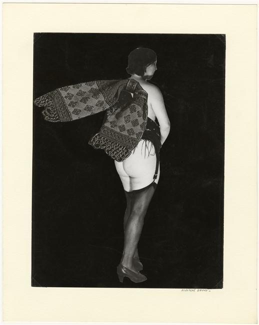 Marcel Bovis(1904-1997) . Nu féminin de dos 1976. Photomontage