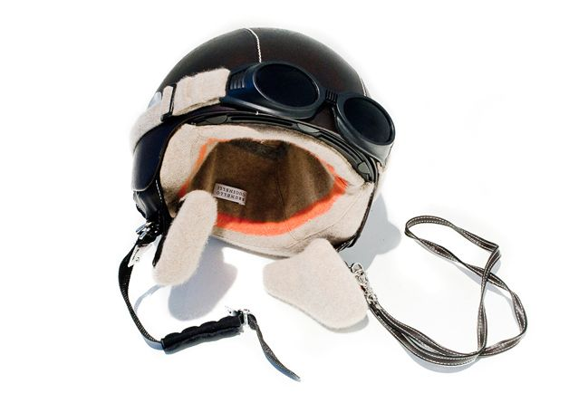 Cucinelli cashmere lined moped helmet