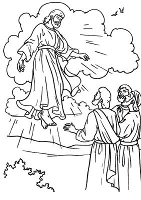 PRINT and cut out Jesus for the CUP ascension craft - Click on pic for more pages to colour