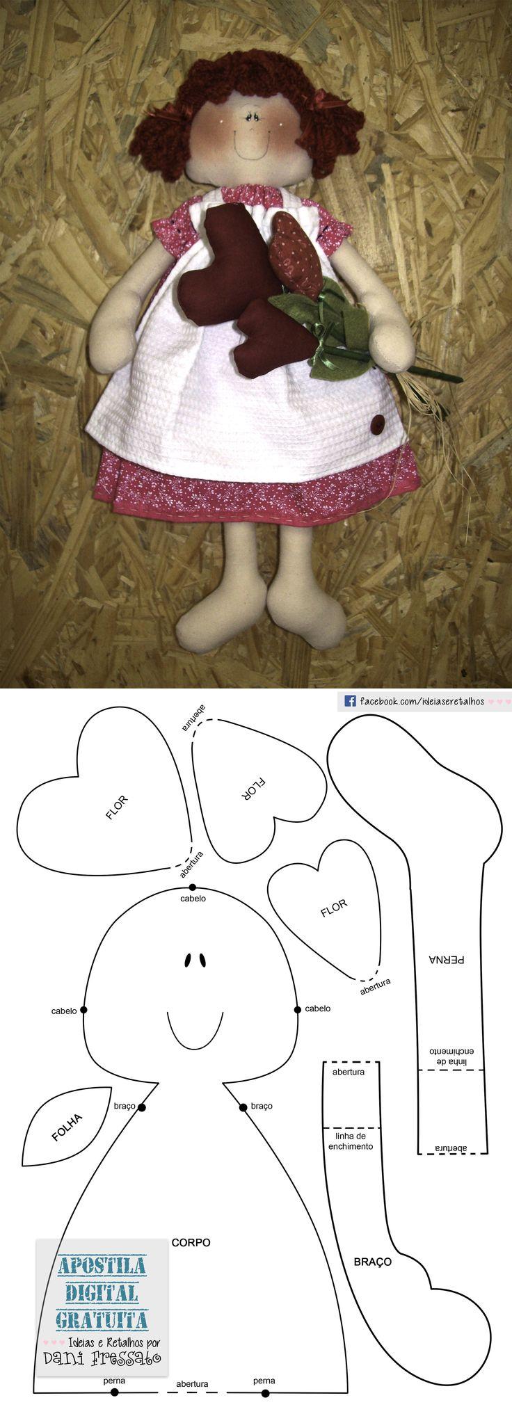 Molde Boneca Lulu