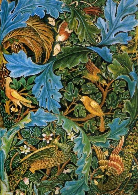 Tapestry design by William Morris, 1879-81. #williammorris #design