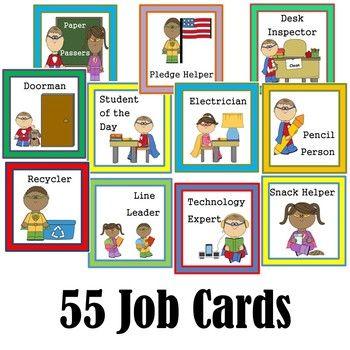 Super Hero Class Helper Job Cards For Chart Or Bulletin