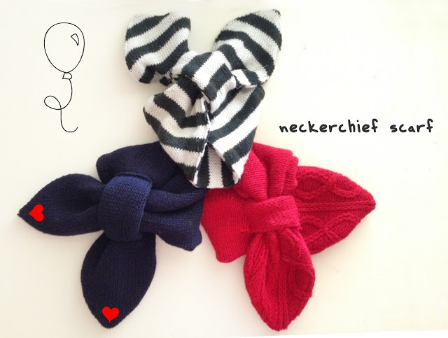 Grosgrain: DIY Scarf Month: Neckerchief Scarf with FREE PATTERN