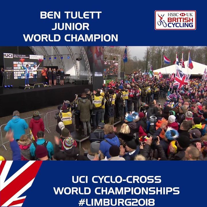 What a weekend for the Great Britain Cycling Team!  A stunning ride from Ben Tulett to become junior world champion at the 2018 UCI Cyclo-cross World Championships 🇬🇧🥇🌈 #cycling #sportsbase #cyclinglife #health #fashion #cyclist #healthyliving #sport #sporting #sportlife #fitness #fitnesslife #fitnessliving #yoga #yogalovers #yogalife