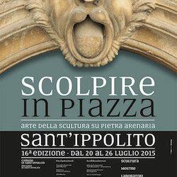 """""""Scolpire in Piazza"""", simposio di scultura su pietra arenaria a Sant'Ippolito dal 20 al 26 luglio"""
