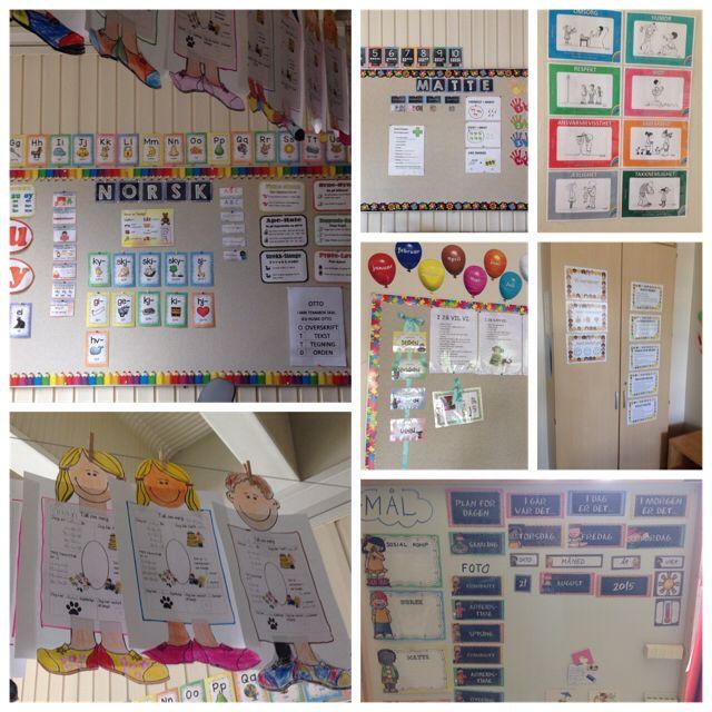 Litt bilder fra klasserommet til 2b - Aronsløkka skole - Drammen - etter ei uke på skolen.