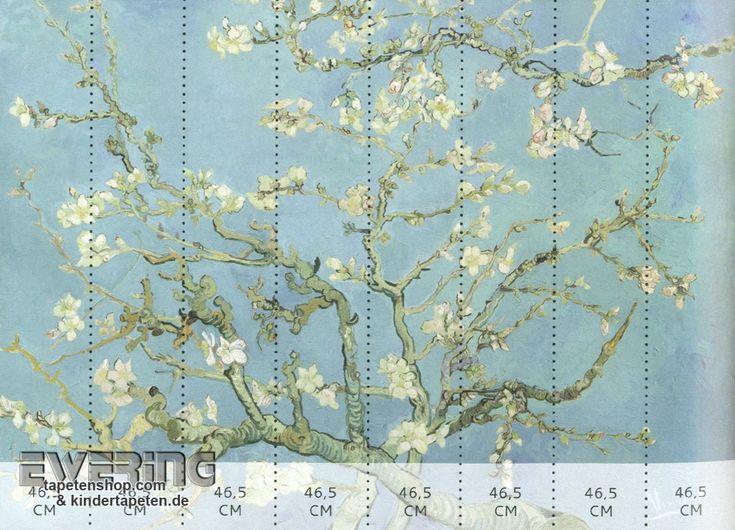 Superb BN Tapeten Van Gogh Mandel Bl te Wandbild hell blau