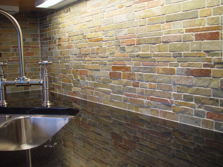 "Slate backsplash ""Falling Water"""