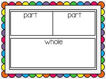 Math Work Mat~ Part Part Whole {Freebie}