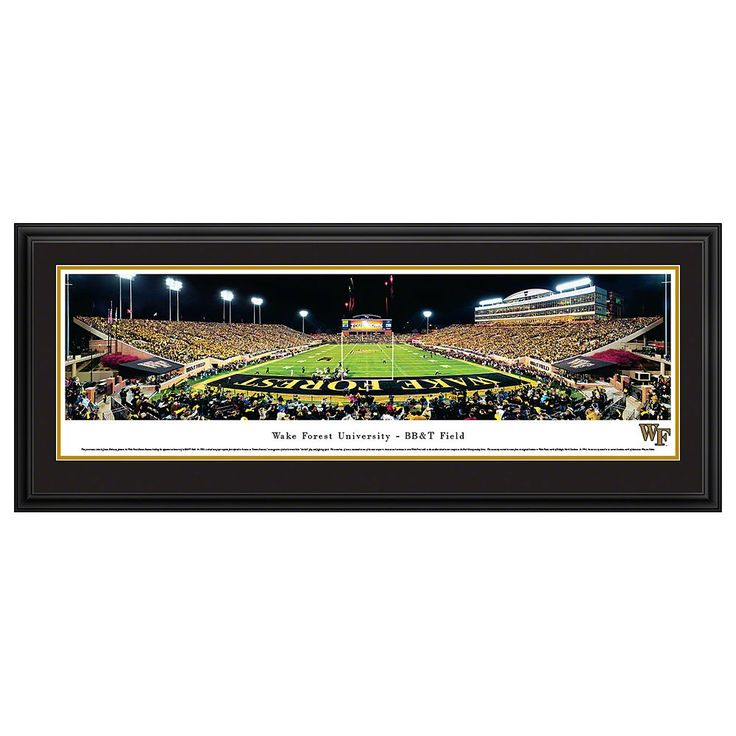 Wake Forest Demon Deacons Football Stadium Framed Wall Art, Multicolor