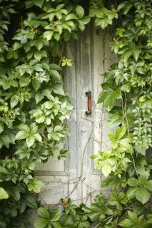 secret garden door... get an old door, place it against a fence