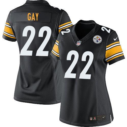 fc2b0cf78 ... William Gay Womens Elite Black Jersey Nike NFL Pittsburgh Steelers Home  22 ...