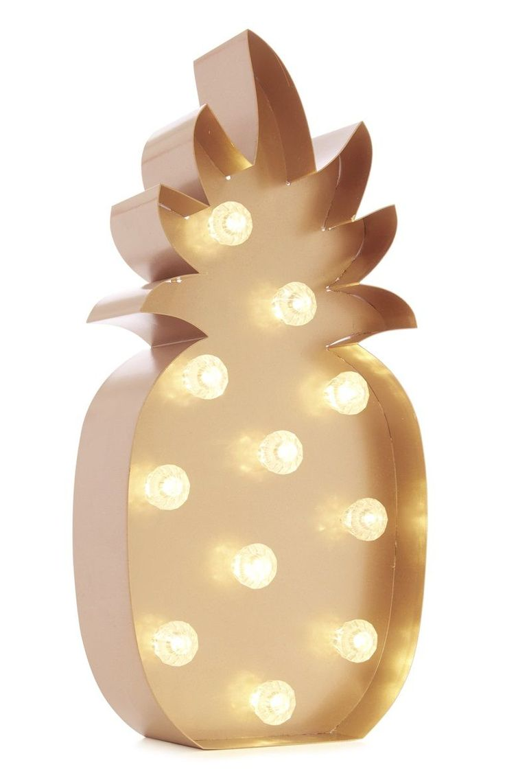 Copper Tone Pineapple LED Light